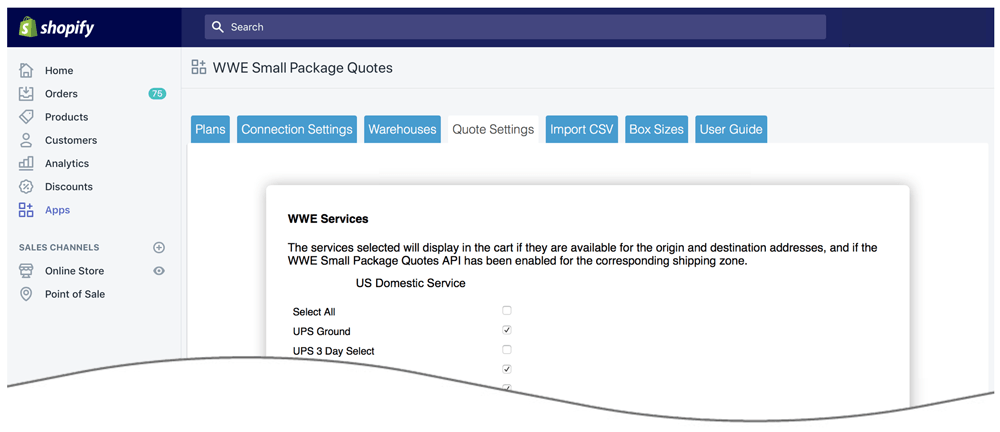WWE Small Package Quotes Shopify App | Eniture Technology