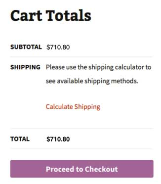 Woocommerce Cart Calculate Shipping 1