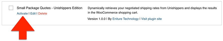 Activate Unshippers WooCommerce Plugin 2