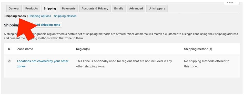 Unishippers WooCommerce Enable Plugin 1