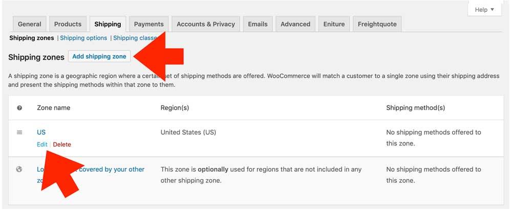 WooCommerce-FreiqhtQuote-Edit-Shipping-Zone